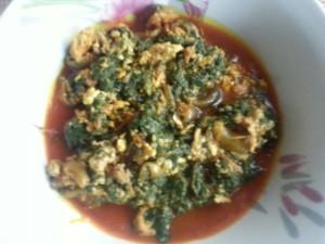 sauce w/greens & sardines